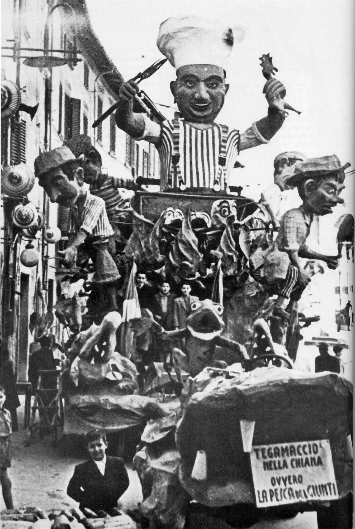 TEGAMACCIO NELLA CHIANA... OVVERO LA PESCA DEL GIUNTI -1950